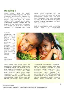 Happy Kids Word Template, First Inner Page, 10960, People — PoweredTemplate.com