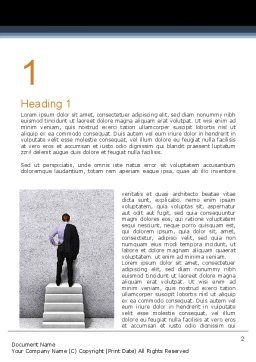 Business Skills Word Template, First Inner Page, 10966, Business Concepts — PoweredTemplate.com