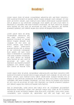 Digital Dollar Word Template First Inner Page