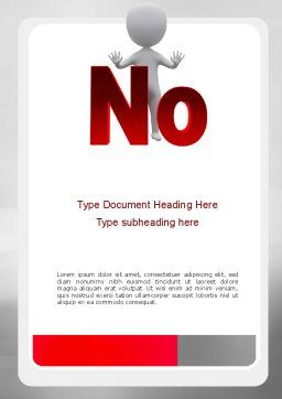 No Word Template, Cover Page, 10971, Business Concepts — PoweredTemplate.com