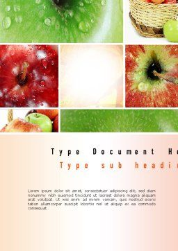 Apple Collage Word Template Cover Page
