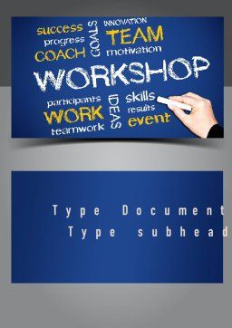 Coaches Workshop Word Template, Cover Page, 10976, Education & Training — PoweredTemplate.com