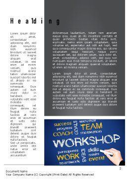 Coaches Workshop Word Template, First Inner Page, 10976, Education & Training — PoweredTemplate.com