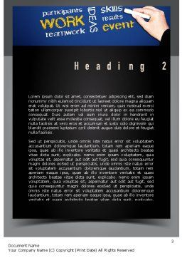 Coaches Workshop Word Template, Second Inner Page, 10976, Education & Training — PoweredTemplate.com