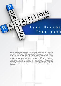 Public Relation Word Template Cover Page