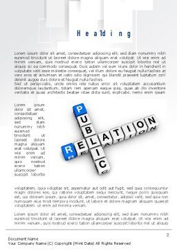 Public Relation Word Template First Inner Page