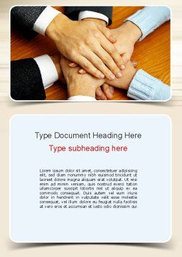 People Hands Together Word Template, Cover Page, 10978, Business Concepts — PoweredTemplate.com