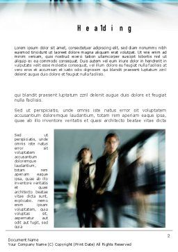 People Walking Word Template, First Inner Page, 10980, People — PoweredTemplate.com