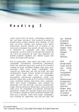 People Walking Word Template, Second Inner Page, 10980, People — PoweredTemplate.com