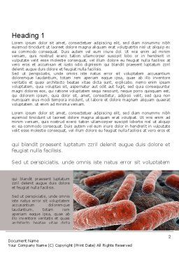 Legionnaires Disease Word Template, First Inner Page, 10982, Medical — PoweredTemplate.com