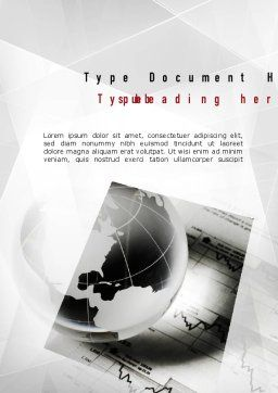 Global Investment Word Template, Cover Page, 10983, Financial/Accounting — PoweredTemplate.com
