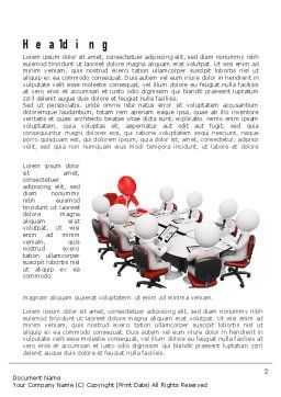 3D Man Business Meeting Word Template, First Inner Page, 10984, Business — PoweredTemplate.com