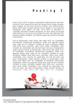3D Man Business Meeting Word Template, Second Inner Page, 10984, Business — PoweredTemplate.com