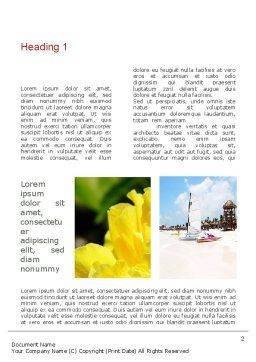 Resort Collage Word Template First Inner Page