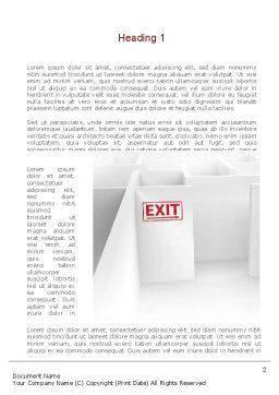 Maze Exit Sign Word Template, First Inner Page, 10986, Consulting — PoweredTemplate.com