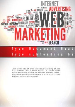 Web Marketing Word Cloud Word Template, Cover Page, 10989, Careers/Industry — PoweredTemplate.com