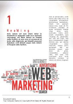 Web Marketing Word Cloud Word Template, First Inner Page, 10989, Careers/Industry — PoweredTemplate.com