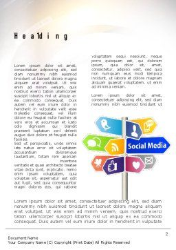 Social Media Signs Word Template, First Inner Page, 10992, Careers/Industry — PoweredTemplate.com