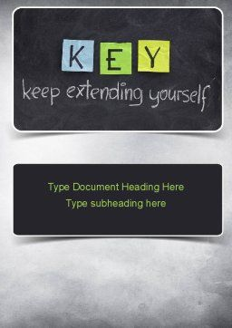 Keep Extending Yourself Word Template Cover Page