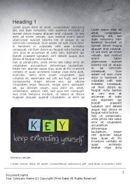 Keep Extending Yourself Word Template First Inner Page