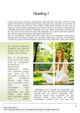 Yoga Outdoors Word Template, First Inner Page, 10995, People — PoweredTemplate.com
