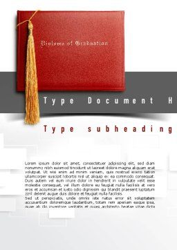 Graduation Diploma Word Template Cover Page