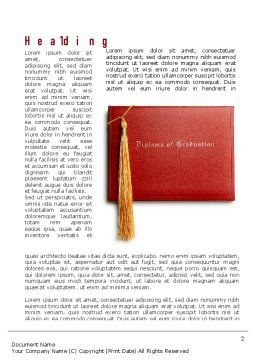 Graduation Diploma Word Template First Inner Page