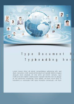 Business Networking Word Template, Cover Page, 11001, Careers/Industry — PoweredTemplate.com