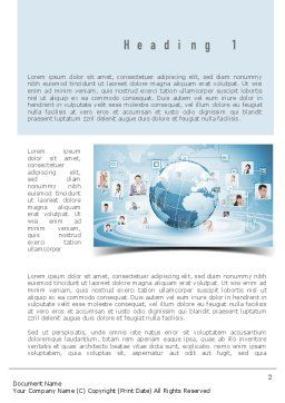 Business Networking Word Template, First Inner Page, 11001, Careers/Industry — PoweredTemplate.com