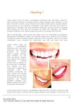 Dental Smile Word Template, First Inner Page, 11003, Medical — PoweredTemplate.com