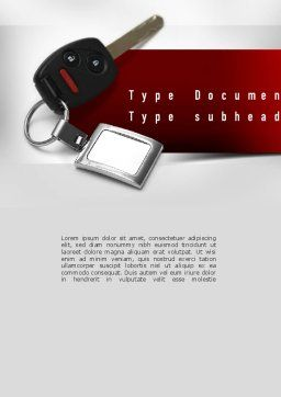 Car Key Word Template, Cover Page, 11004, Technology, Science & Computers — PoweredTemplate.com