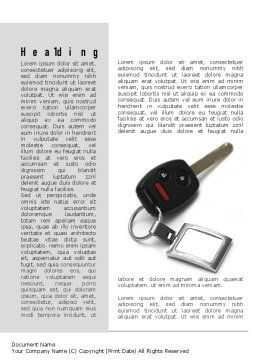 Car Key Word Template, First Inner Page, 11004, Technology, Science & Computers — PoweredTemplate.com