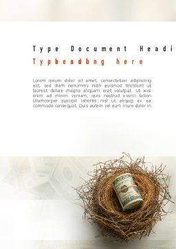 Venture Capital Word Template Cover Page