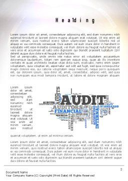 Audit Word Cloud Word Template, First Inner Page, 11008, Financial/Accounting — PoweredTemplate.com