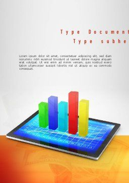 Bar Graph Word Template, Cover Page, 11011, Business Concepts — PoweredTemplate.com