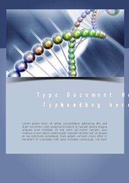 Human Genome Word Template Cover Page
