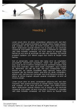 Stairway To Solution Word Template, Second Inner Page, 11013, Education & Training — PoweredTemplate.com