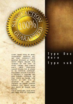 Satisfaction Guaranteed Word Template, Cover Page, 11014, Business Concepts — PoweredTemplate.com