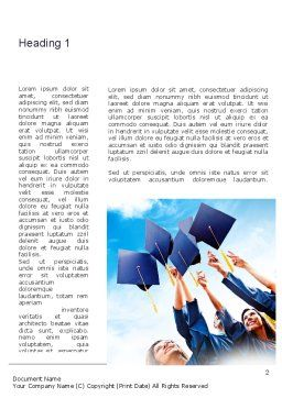 Graduation Ceremony Word Template, First Inner Page, 11019, Education & Training — PoweredTemplate.com