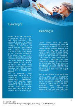 Graduation Ceremony Word Template, Second Inner Page, 11019, Education & Training — PoweredTemplate.com