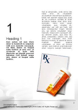 Prescription Drugs RX Word Template, First Inner Page, 11020, Medical — PoweredTemplate.com