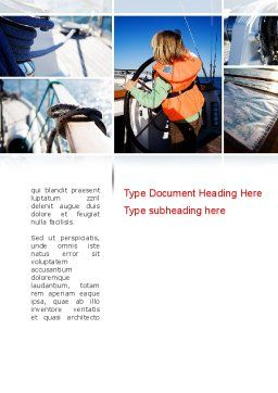 Maritime Word Template, Cover Page, 11021, Careers/Industry — PoweredTemplate.com
