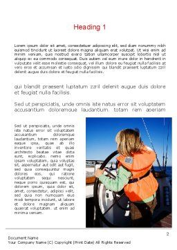 Maritime Word Template, First Inner Page, 11021, Careers/Industry — PoweredTemplate.com