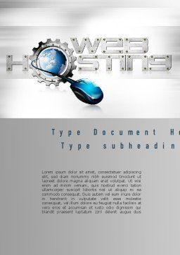 Web Hosting Theme Word Template, Cover Page, 11022, Careers/Industry — PoweredTemplate.com