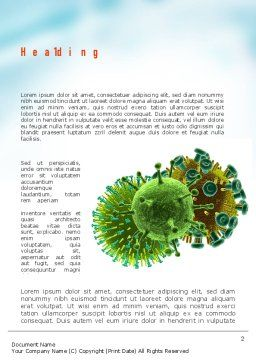 HIV Virus Word Template, First Inner Page, 11023, Medical — PoweredTemplate.com
