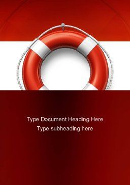 Lifebuoy Word Template, Cover Page, 11028, Careers/Industry — PoweredTemplate.com