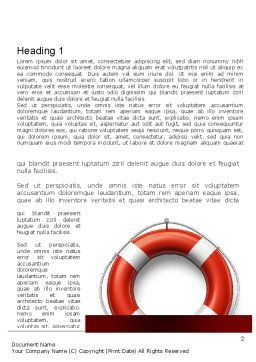 Lifebuoy Word Template, First Inner Page, 11028, Careers/Industry — PoweredTemplate.com