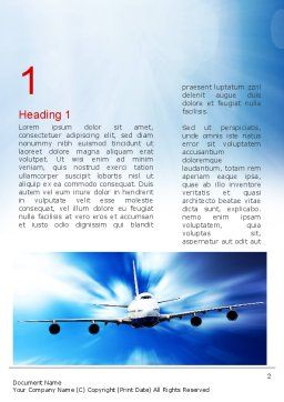 Jet Aircraft Word Template, First Inner Page, 11030, Cars/Transportation — PoweredTemplate.com