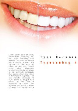 Teeth Whitening Word Template, Cover Page, 11036, Medical — PoweredTemplate.com