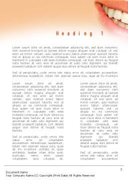 Teeth Whitening Word Template, First Inner Page, 11036, Medical — PoweredTemplate.com